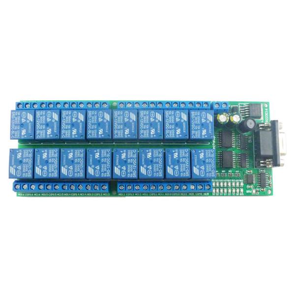 16 canaux 12VDC Smart Home RS232 série COM diy carte de relais contrôlée UART commande AT DB9 Module de commutation