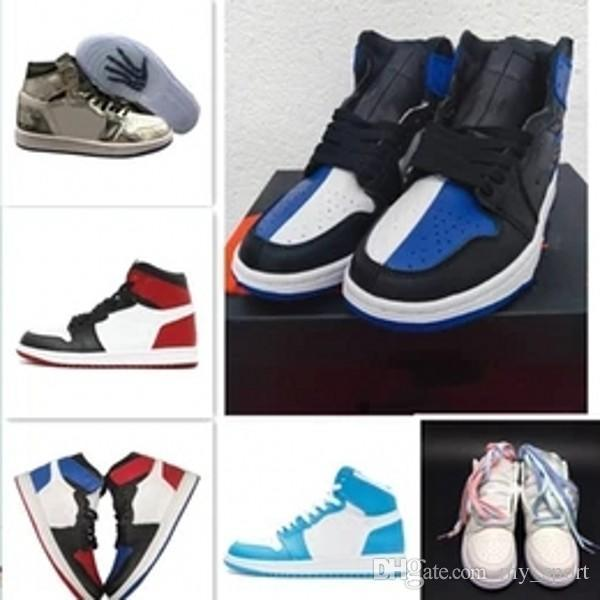 1 Barato Top 3 Banned Ded Toe Chicago Og 1 s Jogo Azul Royal Mens tênis de basquete Sneakers Shattered Encosto Homens Sports Designer Trainers