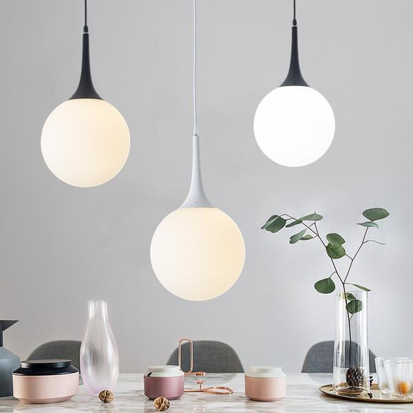 led blanc laiteux abat-jour en verre lampes lampes kerst décorations de noël Globe luminaria suspendu déco LED luminaires