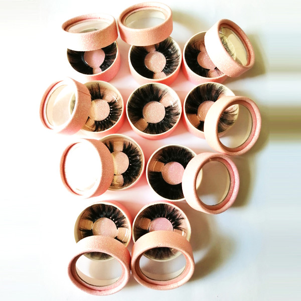 100% Mink Eyelashes False Eyelashes Crisscross Natural Fake lashes Length 25mm Makeup 3D Mink Lashes Extension Eyelash Beauty 11
