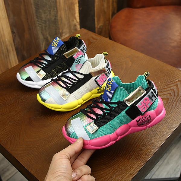 Çocuklar Ayakkabı Moda Tasarımcısı Sonbahar Çocuk Sneakers Erkek Sneaker Erkek Spor Ayakkabı Gençlik Spor Chaussures Çocuk Açık Enfants Dökün