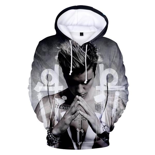 Heißer Verkauf Justin Bieber Hoodies Sweatshirts Poster Hip Hop hochwertige Hoodies Mann Buchstaben Zweck Tour Streetwear Pullover
