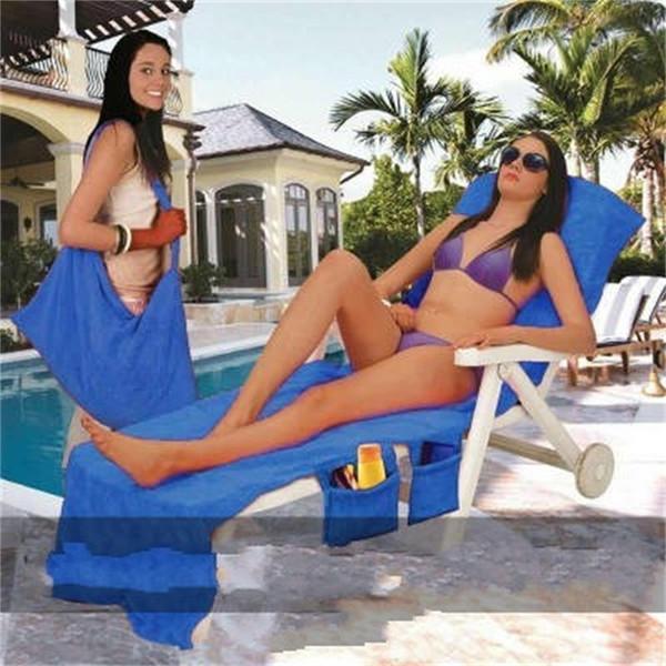 Yeni Lounger Mate Plaj Havlusu Mikrofiber Güneşlenme Yatak Tatil Garden Beach Sandalye Kapak Havlu Aksesuarları Taşınabilir Yumuşak 23dl dd