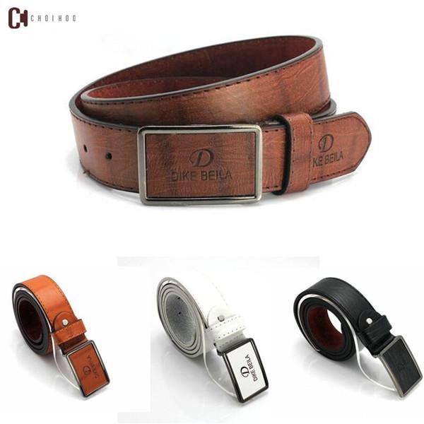 Correa de los hombres a estrenar forme la correa de cuero auténtico de lujo de alta calidad para hombre H Smooth hebilla del cinturón Cinturones para las mujeres de lujo de la correa de los pantalones vaqueros de la vaca