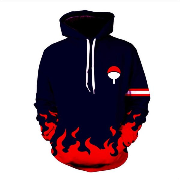 Hot Anime Naruto Hoodies Hombres Mujeres Primavera Otoño jerseys 3D Hooded Oversized Sudaderas Naruto 3D Hoodies Hombres Tops Streetwear