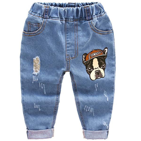 Infant Baby Pants Children Boys Girls Cotton Jeans Kids Denim Harem Trousers Toddler Crawling Soft Leggings Pantalones Spring Y19051504