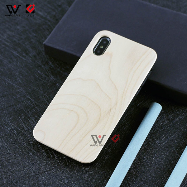 Sublimation Custom OEM Logo Blank Case For iPhone 6/6s 7/8 Plain Wood Bamboo Cases For iPhone 8/7 6s/6