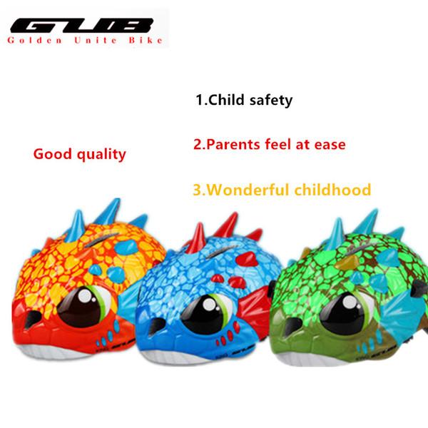 GUB KING Ciclismo Caschi per bambini Cartoon Roller Skating Safety Helmets Boy Monsters