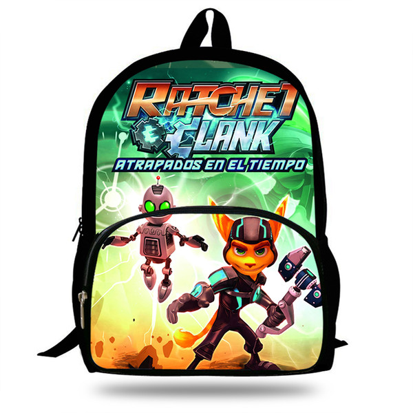 16-inch Pop Game Ratchet And Clank Print School Bags For Teenagers Boys Girls Children Cartoon Bag Kids Backpack Mochila