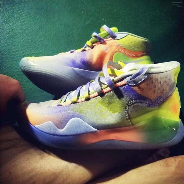 2019-2020 Kevin Durant 12 EP Basketbol Ayakkabı Kutusu ile Erkekler Yüksek Kalite KD 12 Eğitim Sneakers KD12 Spor Ayakkabıları Boyut 7-12