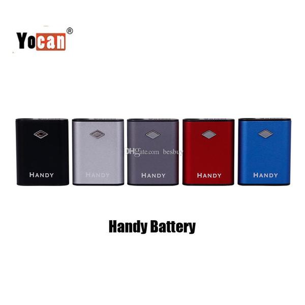 Authentische Yocan Handy Box Mod 500mAh Batterie Einstellbare Spannung Vape Mods Mit Magnetischen 510 Adapter Für Starke Ölpatrone 100% Original