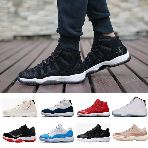 New 11 11s high low le Velvet Blue Men Women Basketball Shoes 11s Royal Blue Concord 23 45 Bred Rose Gold white black grey teal Sneakers