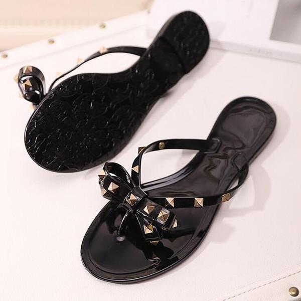 2019 Avrupa ve Amerikan sandalet Hakiki Deri Marka Yeni Ayakkabı Kadın Tanga Sandalet Yaz Kadın Plaj Sandalet Ünlü Çevirme Fllops