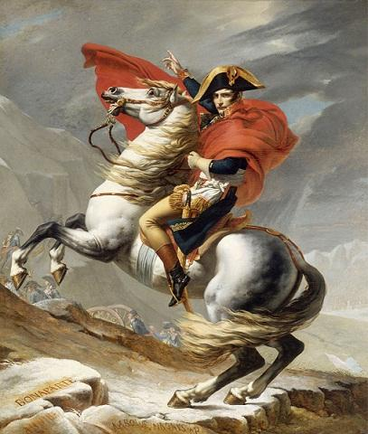 Napoleon Crossing the Alps on Gray Horse Qulaity Hand-painted &HD Print Portrait Art oil painting On Canvas For Wall decor Multi sizes p175!
