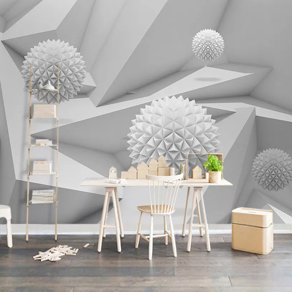 Custom Mural Papel De Parede 3D Abstract Space Circle Ball Living Room Dining Room TV Background Photo Wallpaper Wall Home Decor