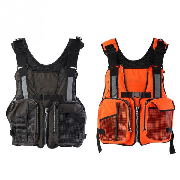 Professional Life Jacket Life Vest Outdoor Emergency Survival Fishing Swimming Vest Aid Jacket Lifevest Waistcoat with Whistle
