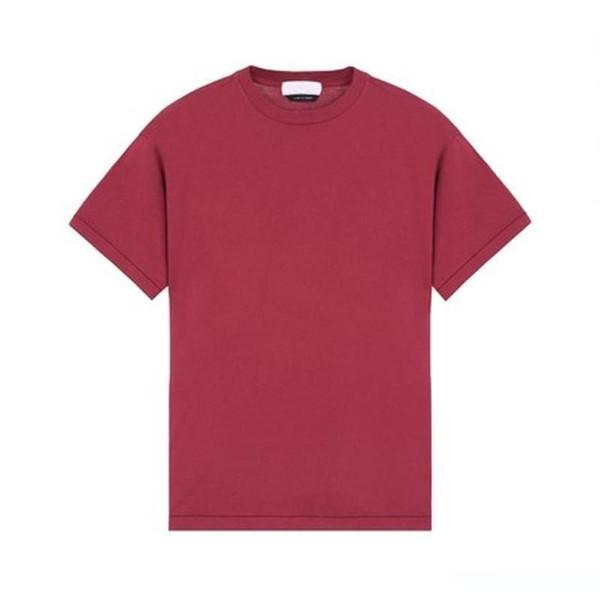 1920 Calle manga corta color sólido Europa retro marea ocasional cómodo camiseta de los hombres y las mujeres la pareja de 6 colores Camiseta HFSSTX078