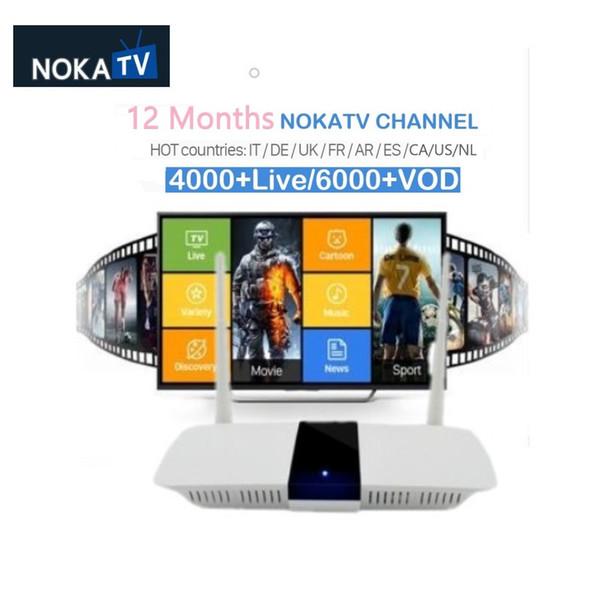 Q1604 Frankreich Arabisch IPTV Box Android 8.1 Fernsehempfänger mit nokatv-Paket Decoder Live 4K IP TV 1 Jahr noka Code IP TV
