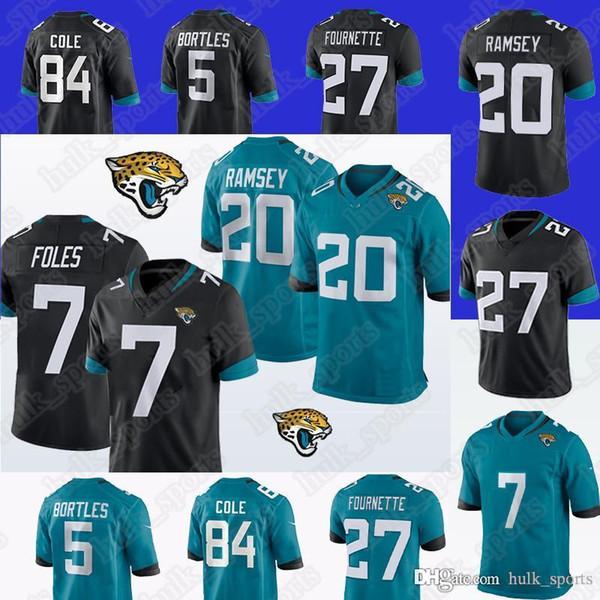 on sale 8855e 14efe 2019 Jacksonville Jerseys Jaguar 7 Nick Foles 20 Jalen Ramsey 84 Keelan  Cole 27 Leonard Fournette Top Quality Men T Shirt From Hulk_sports, $23.5 |  ...