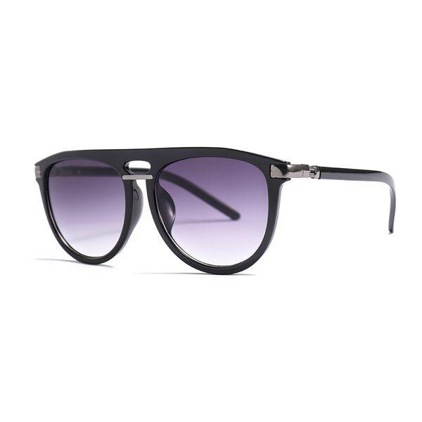 Оптовые-негабаритных очки женщина круг черных мужских вождений очков FML