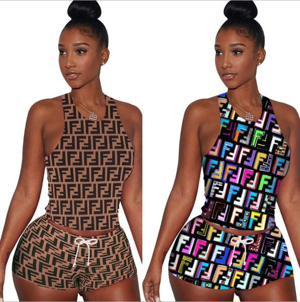 top popular Women FF Full Long Slim Dress Luxury Designer Summer Dresses Brand Short Sleeve Bodycon Skirt FENDS Womens Clothing Party Dresses C6501 2020