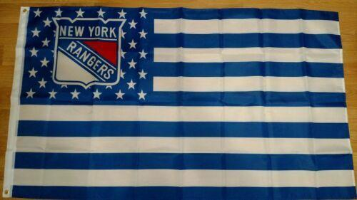 New York Rangers 3x5 American Flag Decorations for Home Flag Banner Gifts