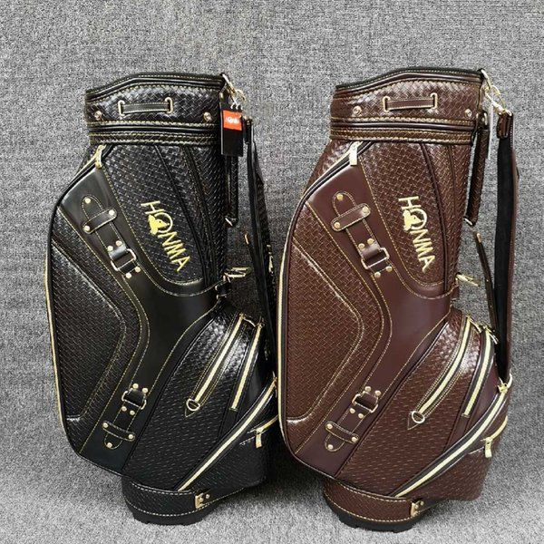 best selling High Quality Woven Golf bag Leather Golf staff bag Honma Golf Cart Bag