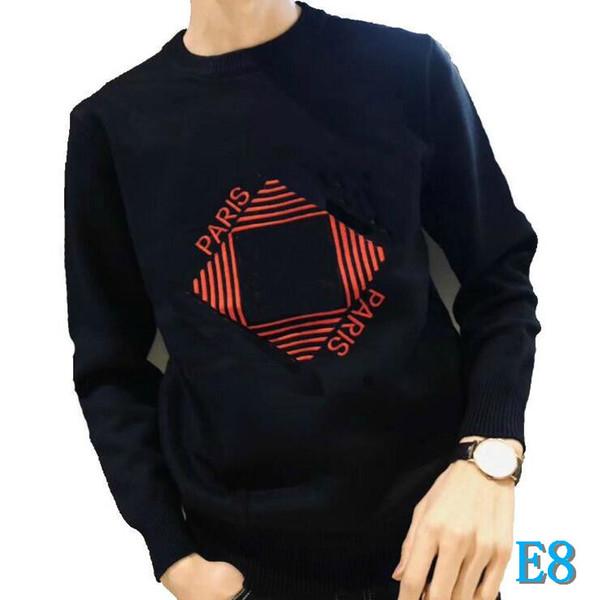 Chegada Nova 19FW GVC Designer Mens Camisolas Moda Marca Top com letras de alta qualidade Bordado pulôver dos homens de roupa Whol
