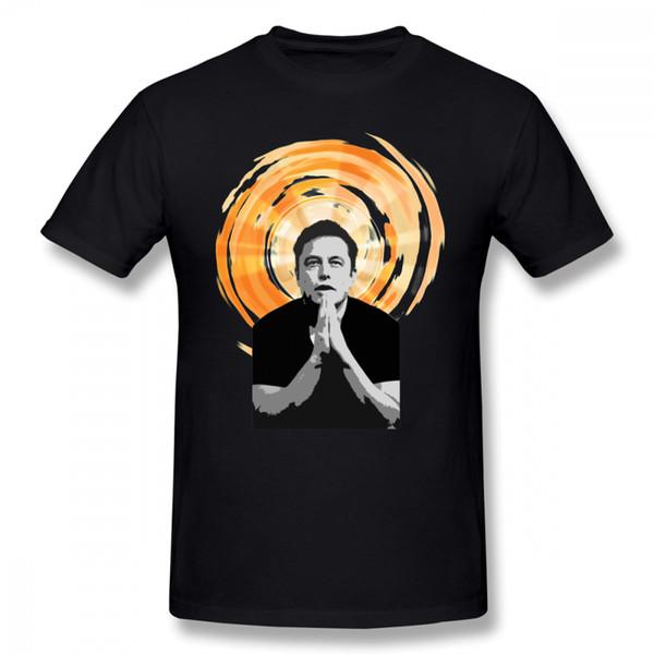 Elon Musk camiseta En Elon Musk confiamos camiseta divertida Camiseta casual camisa de los hombres de manga corta de gran tamaño de 100 por ciento algodón Tshirt