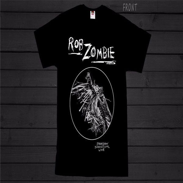 9f6f9af68e35 Custom Design T Shirts Short Men Rob Zombie Fashion 2018 Tee Shirts