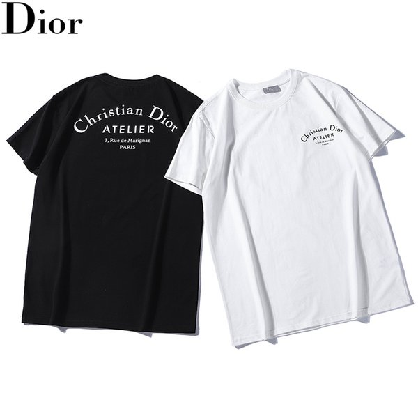 top popular 2019 0Dior Summer Men and Women Fashion T-shirt New Neutral Short Sleeve O-neck Casual Tops 2019