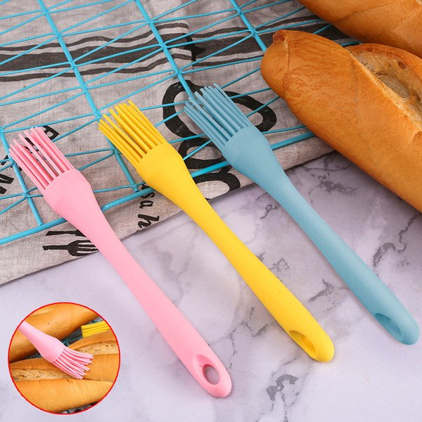 Hot Sale Silicone Cream Butter Cake Brush Basting Barbecue Soft Brushes Bread Batter Scraper Broom Brush Kitchen Cooking BBQ Tools