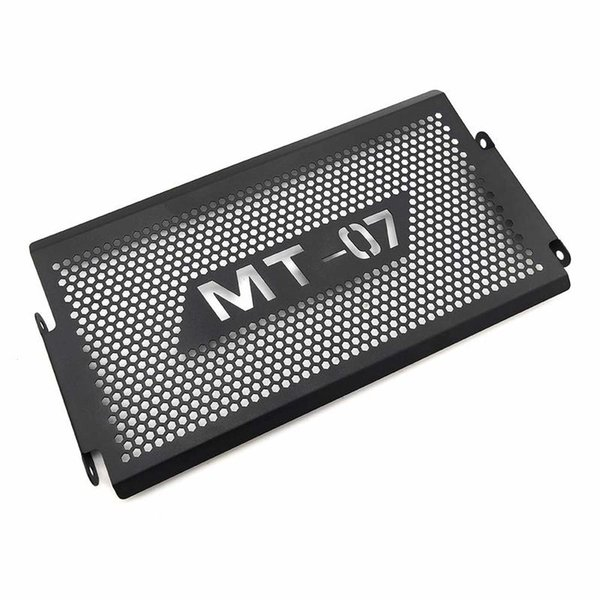 Protezione nera della griglia della protezione della griglia della guardia laterale del radiatore del motociclo per Yamaha MT07 MT-07 mt 07 2014 2015 2016 2017 2018