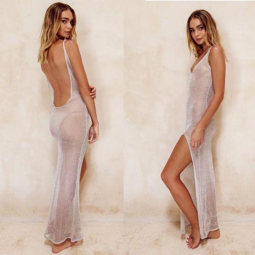 Delle nuove donne Cover Up Lace Estate Hollow Bikini Beach Dress costume da bagno