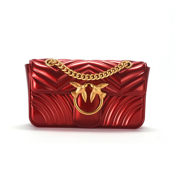 Charm2019 Tide Woman Bag Concise Square All-match Messenger Swallow Chic Small Real Chain Jelly Package