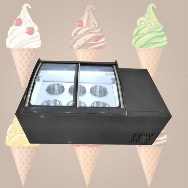 best selling 190W Ice porridge cabinet commercial ice cream display cabinet for cold drinks shop store supermarket ice cream display cabinet