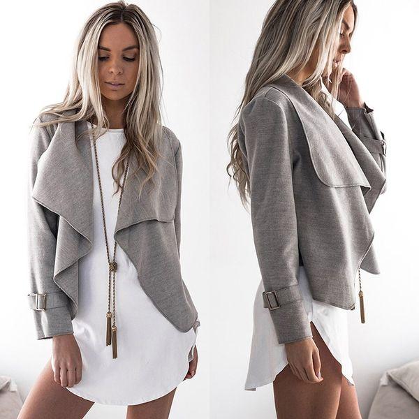 Bigsweety Fashion Women Turn-down Collar Long Sleeve Cardigan Coat Female Lapel Short Jacket Ladies Female Jackets Cardigans