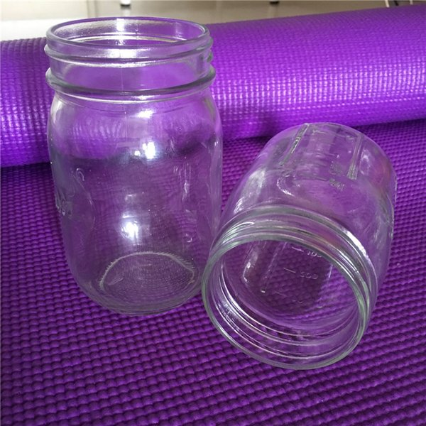 Glass Mason Jar Mug with Lid and Straw Summer Ice Cream Fruit Cold Drinking Water Jars Juice Cup Bottle