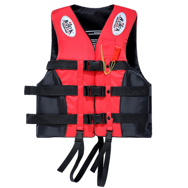Portable Waterproof Oxford Clothes Life Jacket Red