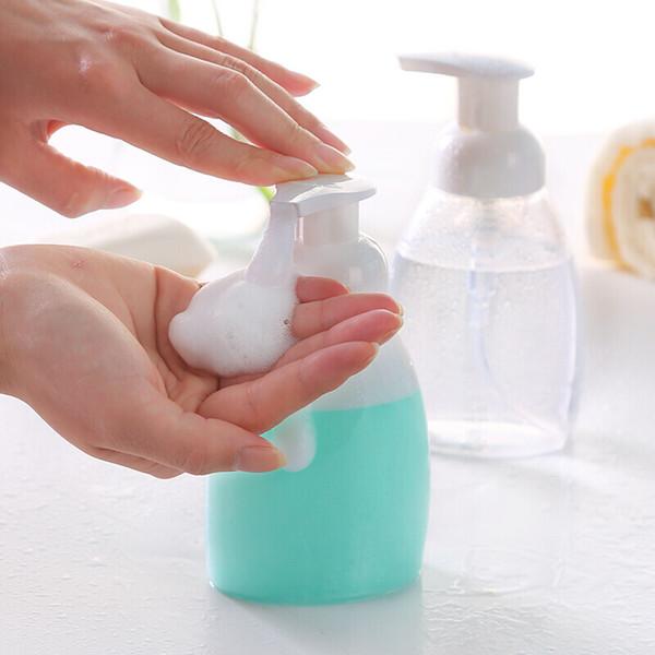 300ml en plastique moussant clair bouteille de savon mousses distributeur liquide pompe à mousse shampooing lotion mise en bouteille bouteilles de mousse étiquettes collantes