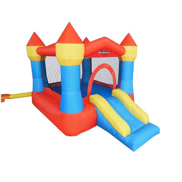 공기 송풍기를 가진 생일 파티를위한 성곽 집을 튀는 팽창 식 도약 자 아이