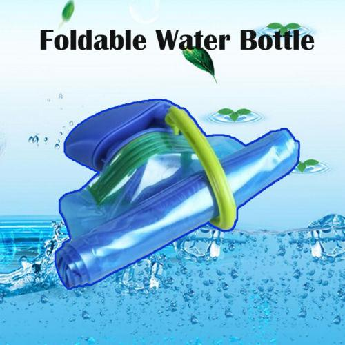 top popular 700ML High Quality Foldable Drinking Water Bottle Bag Pouch Outdoor Hiking Camping Seal Transparent Water Bag Bottles 23x13cm 2019