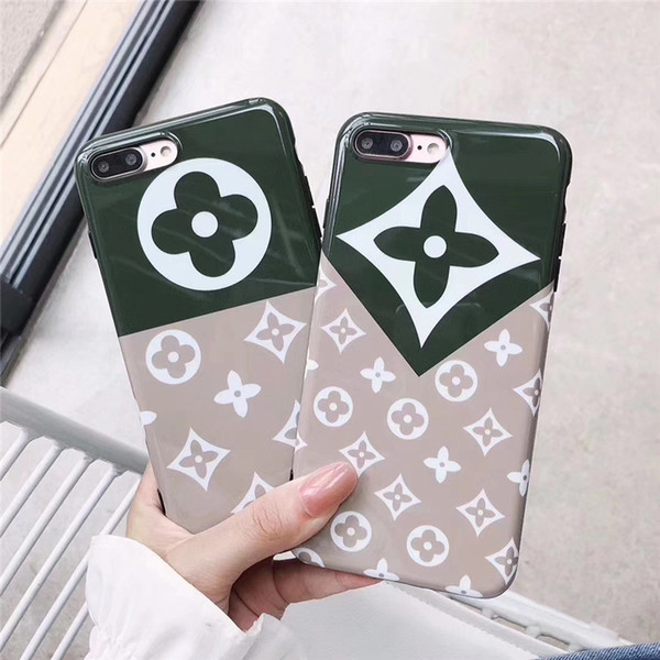 Coque One Piece luxe pour iPhone 6S 7 8 P XS max mode célèbre logo surface lisse Coque arrière pour téléphone
