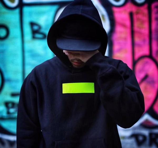 17 / 18FW TOP KALİTE Kutusu Logo Nakış Pamuk Kapüşonlular Çift Moda Kapşonlu Sweatshirt Hip Hop 14 Renk ERKEK KADIN Coat HFLSWY035-048