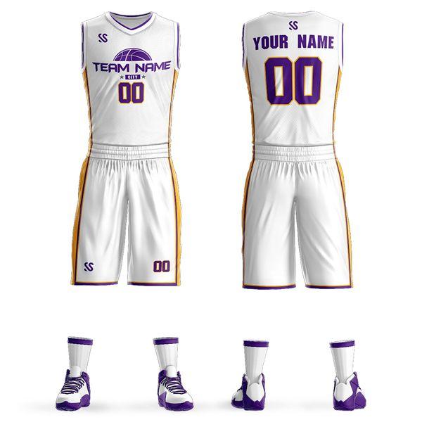 Personalizzato Nuovi abiti da basket per adulti kit basket jersey abbigliamento sportivo da allenamento concorrenza personalizzazione fai da te Pullover di pallacanestro Set