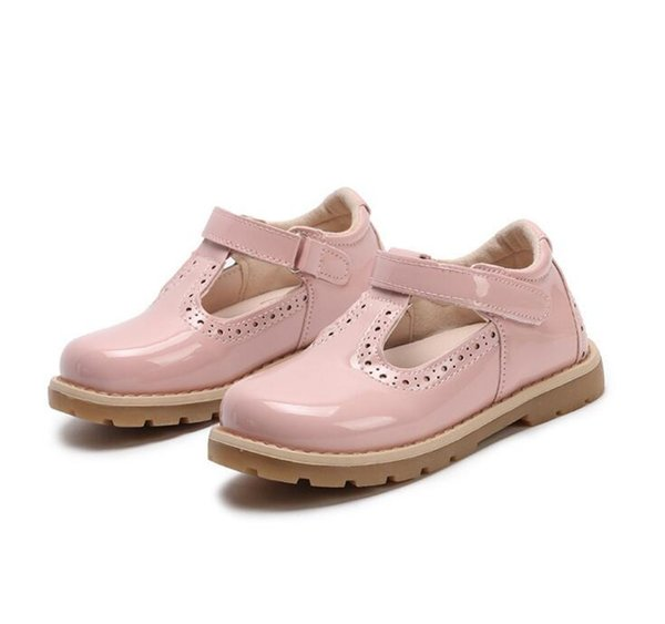 2017 new spring and autunm girls shoes children shoes black/white/pink/red Princess female students shoes