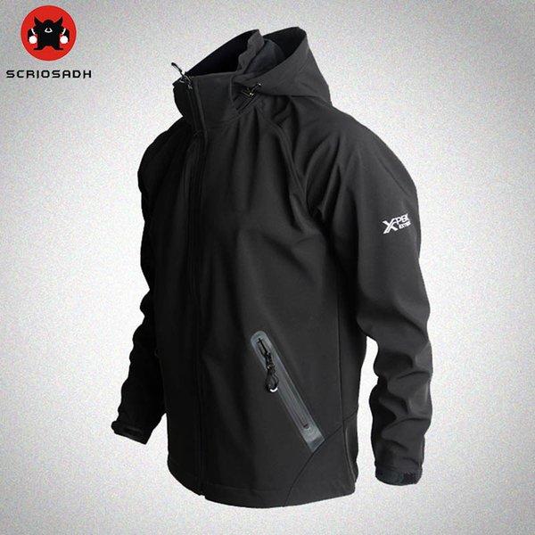 Açık Spor Softshell Ceketler Örgü Nefes Çabuk Kuru Rüzgar Geçirmez Ceket Kamp Yürüyüş Erkekler Marka Açık Trekking Ceket