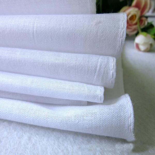 100% Cotton White Hankerchiefs Cotton Towel Table Satin Handkerchief Mens Suit Pocket Square Handkerchief