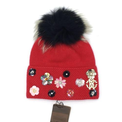 New brand design Autumn and winter good quality 70% wool 30% rabbit hair material red grey color free size hat cap for women