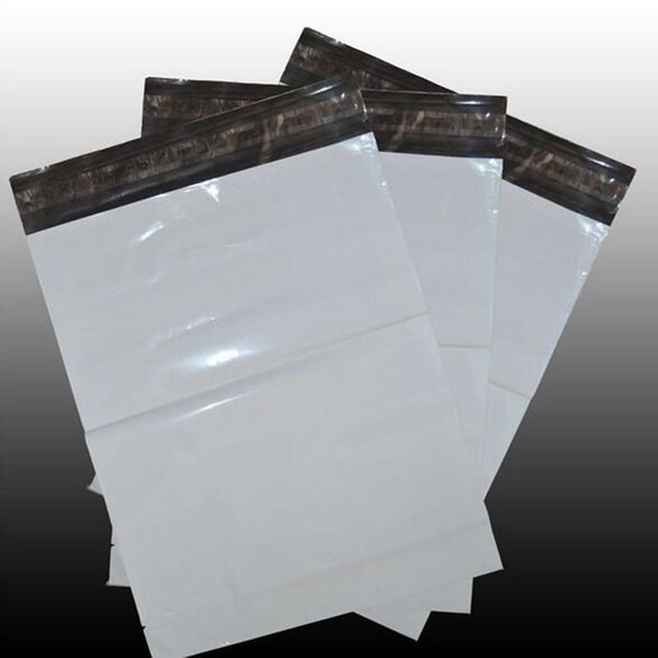 10PCS/LOT 20*35CM New material White Self-seal Adhesive Courier Bags Plastic Poly Envelope Postal Shipping Mailing logistics Bag